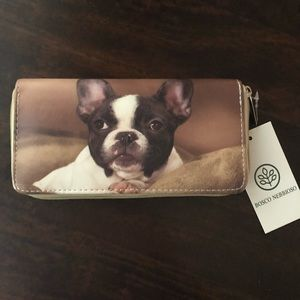 Handbags - NWT Wallet with French bulldog picture
